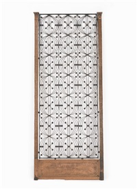 elevator grill from the chicago stock exchange, 30 north lasalle stree, chicago, illinois by dankmar adler and louis sullivan