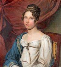 portrait de jeune femme dans un fauteuil by francois van dorne