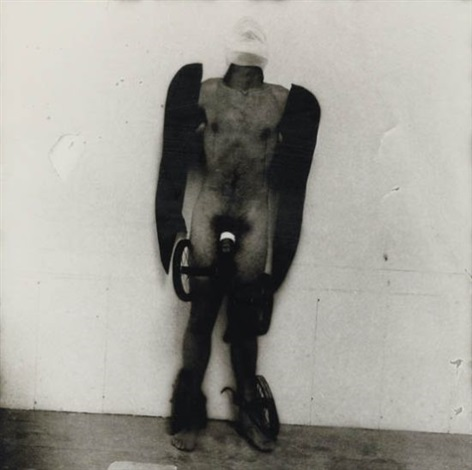 man with wings and wheels by joel peter witkin