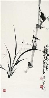 双清图 (flower and bird) by lin wenjie and zhao shaoang