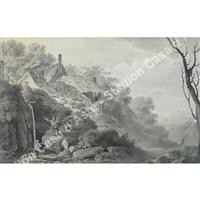 paesaggio con figure by deodatus rager