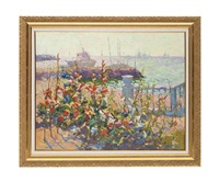 flowers in the harbour by anatoly yanev