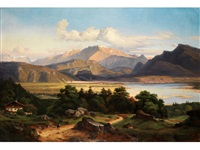 grosse landschaft am inn by georg heinrich crola