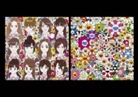 surprise maiden in the yellow straw hat smllr 2 works by takashi murakami