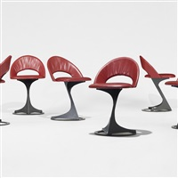 chairs from the tabourettli theatre (set of 6) by santiago calatrava