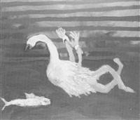 gefesselter schwan und fisch by end art