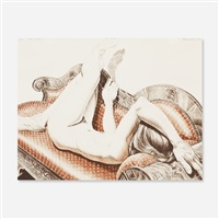 nude on chaise by philip pearlstein