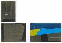 komposition mit blau-gelber diagonale by tamas konok
