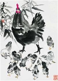 情深 立轴 设色纸本 by huang zhou