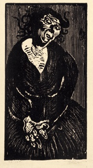 fisili (alte zigeunerin) by otto pankok