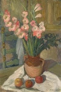 jarrón con flores by manuel humbert