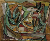 cubist composition: harbor side view by reynold arnould