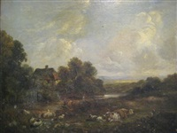 landscape with cattle by richard h. hilder