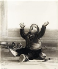 child with ball by vincent desiderio