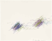 subway drawing (1.24.00 13: 10) by william anastasi