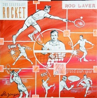 rod laver (the legendary rocket) by laurent le pont