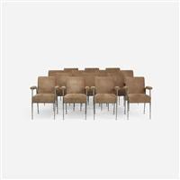 armchairs, set of fourteen by jules leleu