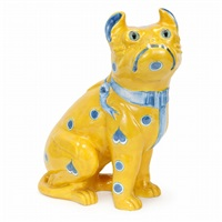 bulldog figurine by émile gallé