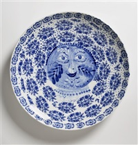 a blue onion porcelain plate by jan antonín pacák