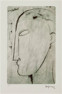 figura maschile by amedeo modigliani