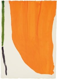 orange downpour (four pochoirs portfolio) by helen frankenthaler