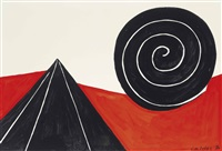 pyramid and spiral by alexander calder