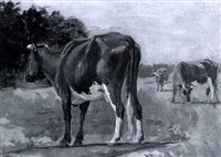 cattle grazing by frank hector tompkins