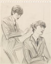 george harrison & john lennon by elizabeth peyton