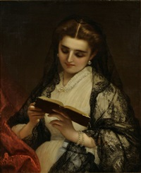 lady reading a book by gianfranco locatello