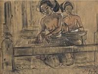 two weavers by adrien jean le mayeur de merprés