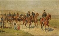militaires à cheval by jules antoine voirin