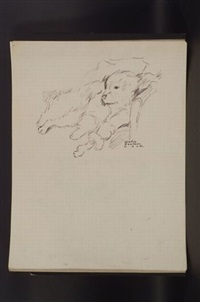 sketch of dog (+ 5 others; 6 works) by gladys emerson cook