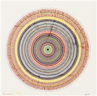 beautiful bullseye drawing by damien hirst
