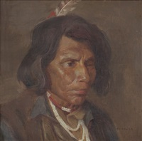 klikitat chief by eanger irving couse
