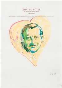olof palme (from the series hotel drawings) by martin kippenberger
