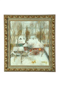 winter in sednev by tatiana yablonskaya