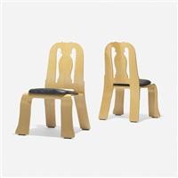 queen anne chairs (pair) by robert venturi