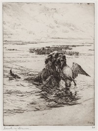 the retriever by frank weston benson