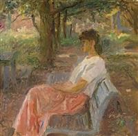 portrait of the artist's daughter by tatiana yablonskaya