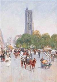 la rue de rivoli (+ le palais bourbon; 2 works) by louis raoul arus