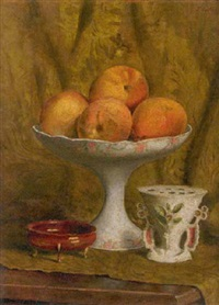 peaches in a compote by emmanuele costa