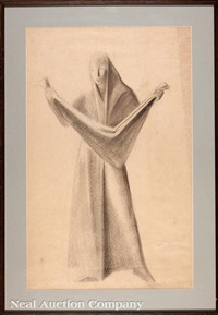 standing draped woman by enrique alferez