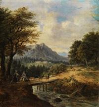 gebirgslandschaft mit bachlauf by german school-southern (19)