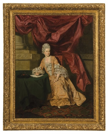 portrait of mrs thrale by johann joseph zoffany