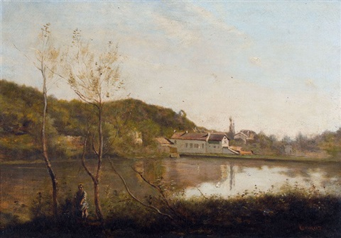 ville d′avray by jean baptiste camille corot