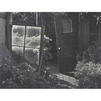 composition, back yard, san francisco, california - garden detail by pirkle jones