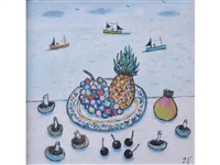 still life with pineapple by joan gillchrest