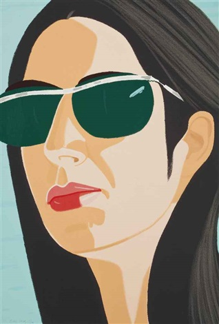 ada with sunglasses (from alex and ada, the 1960's to the 1980's) and sweatshirt 2 (2 works) by alex katz