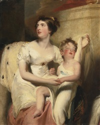 portrait of anne, countess of charlemont and her son james by thomas lawrence