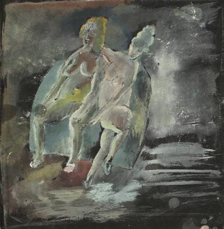 zwei sitzende akte by jules pascin